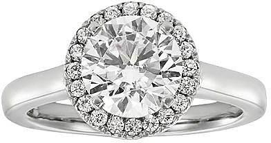 Track Round-Cut IGL Certified Diamond Frame Engagement Ring in 14k White Gold (2 ct. T.W.) Pricing