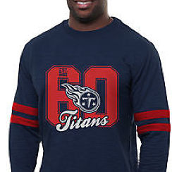 Pro Line Tennessee Titans Heritage Football Jersey Long Sleeve T-Shirt - Navy Blue
