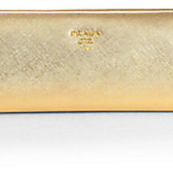 prada metallic clutch