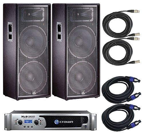 domains amazoncom ddfbaaeacc JBL JRX  With Crown XLS Amplifier and Cabl