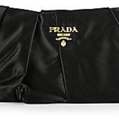 prada ladies bags - prada pleated satin clutch, prada saffiano vernice promenade ...