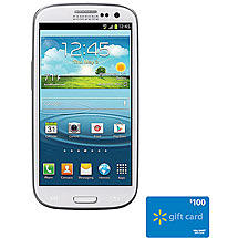 Track Straight Talk Samsung Galaxy S3 w/Bonus $100 Walmart Gift Card Value Bundle Pricing
